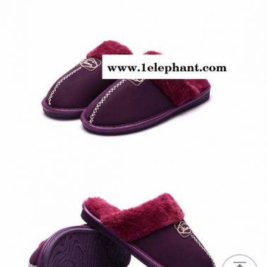JSD金斯达拖鞋,保暖防滑 纯色加绒pu皮棉拖鞋,2016新品上市