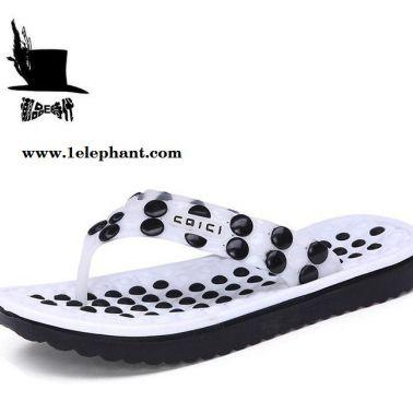 2015夏季新款沙滩防滑按摩休闲居家潮男士人字拖鞋夹脚凉拖鞋