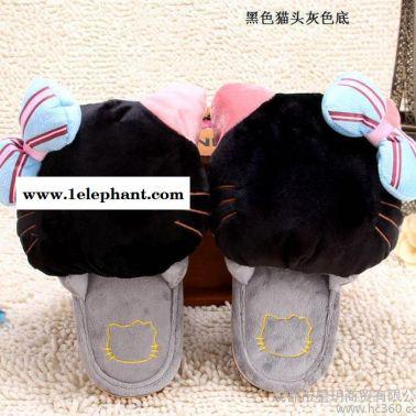 一件代发 秋冬新款糖果色可爱保暖拖鞋 卡通家居拖鞋超柔绒棉拖