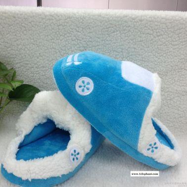 卡通毛绒拖鞋 秋冬季保暖家居室内软底防滑地板棉拖鞋定做