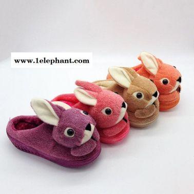 一件代发新款家居情侣棉拖可爱卡通厚底拖鞋保暖防滑拖鞋