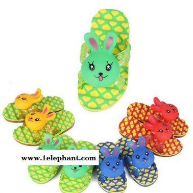 1-5岁新款儿童拖鞋 可爱卡通小兔子凉拖 卡通男女童拖鞋10