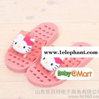 韩国进口 Hello Kitty 幼儿儿童浴室拖鞋 漏水防滑 凯蒂猫