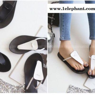 罗马风休闲平底鞋时尚夹脚拖鞋头层牛皮沙滩鞋真皮女鞋