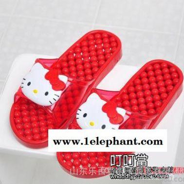 韩国进口hello kitty 凯蒂猫新款成人浴室按摩拖鞋 凉拖