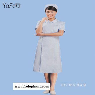 涤棉不起球线绢长款短袖美容服 实验室服 护士服定做批发