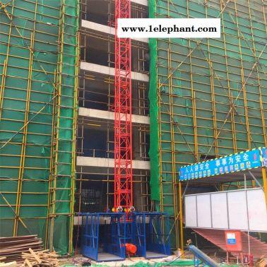 施工升降机 建筑工地物料升降机盖房上料提升机 龙门架升降机单柱双笼升降机