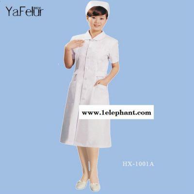 夏季护士服短袖 美容院工作服 女护士白大褂药店服定做