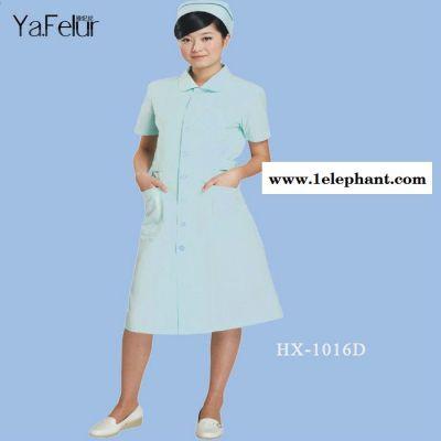 ** 护士服 夏天女士长款护士衣服 中袖白大褂女士医护服