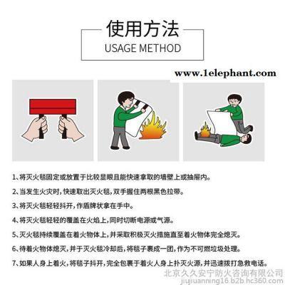 防火毯灭火毯阻燃逃生毯 玻璃纤维应急救生毯1.5*1.5米救生毯