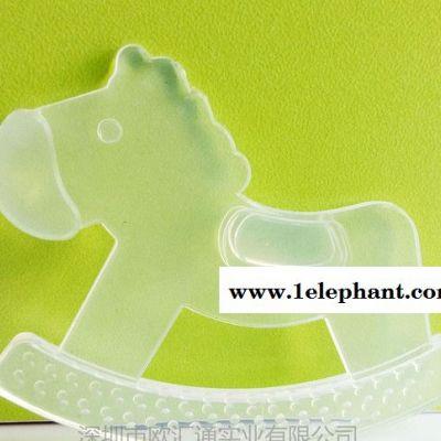 全硅胶透明婴儿牙胶 硅胶安全无毒咬牙器 磨牙器 婴儿用品