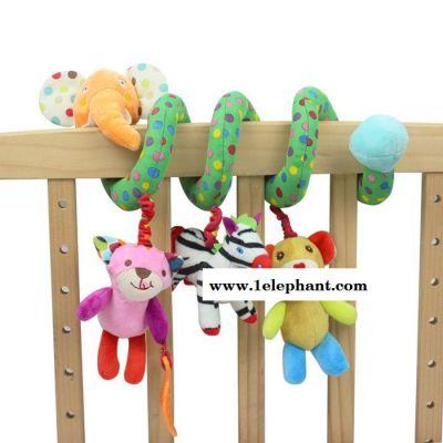 SKKBABY 床挂益智早教音乐动物床绕床挂宝宝牙胶摇铃玩具baby toy批发