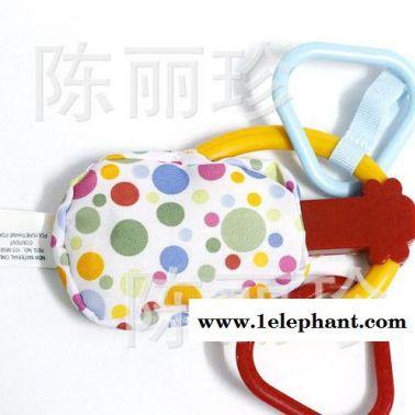 批发外贸小提琴造型软牙胶婴儿玩具推车婴儿床小挂件