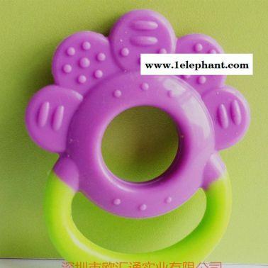 手花型全硅胶婴儿牙胶 硅胶安全无毒咬牙器 磨牙器 婴儿用品