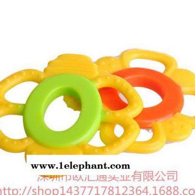 花型全硅胶婴儿牙胶 硅胶安全无毒咬牙器 磨牙器 婴儿用品