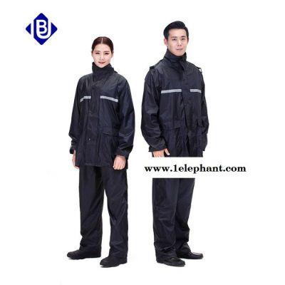 雨豹牌UB-019型号黑色亿美涤纶双层雨衣,安全防水,可隐藏雨帽 松紧防雨袖口 前后设有透气孔,现货供应
