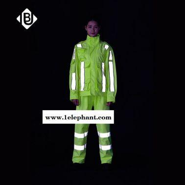 雨豹牌 勘察服UB-004型号 3M反光条 300D/150D牛津布 上下分体反光 环保PU涂层 可定制 反光雨衣