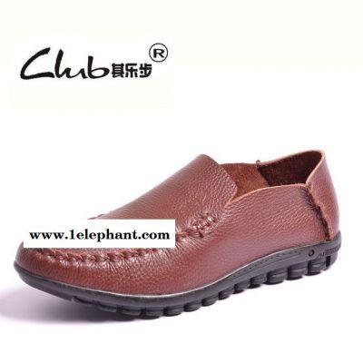 新款真皮男鞋休闲鞋 外贸品牌平底鞋 一件代发时尚懒人鞋套脚单