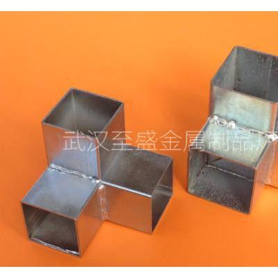 锌钢防盗窗空调架镀锌/铸铝材质方管三通