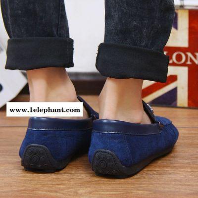 一件代发男鞋2015春夏新款休闲鞋男英伦豆豆鞋男单鞋套脚驾车