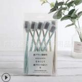 马卡龙四支装牙刷成人细丝软毛牙刷清洁口腔带护套居家用品牙刷