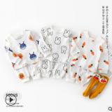 新款婴幼童可爱动物套装 男女宝宝透气长袖袖两件套