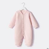 新款前门襟单排扣简约婴儿连体服 批发多规格棉男童女童爬服