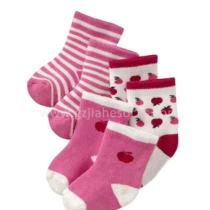 广州加厚保暖毛圈精棉婴儿袜 短筒毛巾袜子 外贸秋冬儿童袜子BB袜
