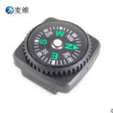 厂家户外热卖 现货20mm皮套指南针手表织带适用胶套指南针 满优惠