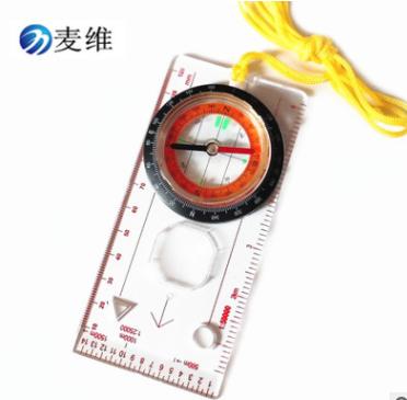 热销 DC45-5C 专业指南针地图尺 多功能指北针 地图比例尺 户外用