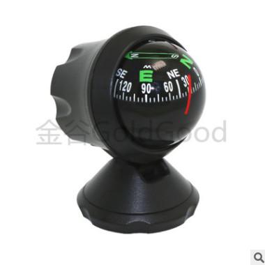 跨境货源LC550A车载指南针球 指南针可调节角度汽车摆件一件代发