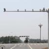 八角形监控设备安装杆件,高度6米横杆8米,整体热镀锌喷塑处理