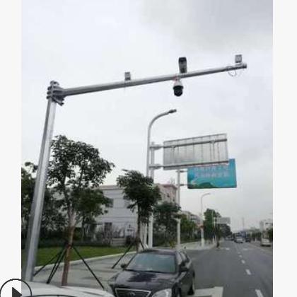 交警监控杆信号杆厂家八角型杆件高度6米6.5米6,8米8米横杆4-18米