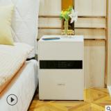 北欧智能床头柜简约现代卧室储物柜床边小柜子入墙全钢保险柜wifi