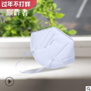 成人KN95口罩10个一盒厂家直销 含熔喷布5层防护防尘透气可出口