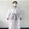 一次性覆膜隔离衣PP+PE 针织螺纹袖口 防水 防尘 防油污