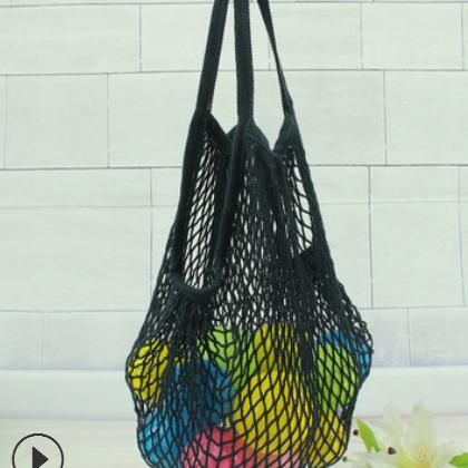 超市手提式便捷购物网袋 全棉水果网兜 超市全棉网袋