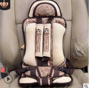 加厚通用车型便携式简易儿童婴儿卡通汽车安全座椅坐垫座垫0-4岁