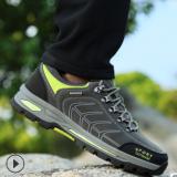 跨境货源2019新款防滑防水耐磨户外登山鞋男 徒步旅游运动鞋男鞋