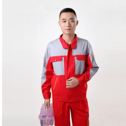 三九薄型沙斜工作服 夏季拼色酶洗压烫工装 防护工作服定做特价