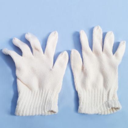 个人手部防护手套厂家批发 劳保用品直销 棉九鼓细沙紧口线手套