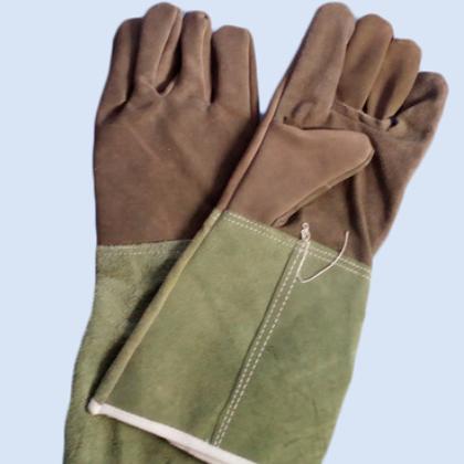 牛二层皮电焊手套个人手部防护手套 电焊用品手套厂家批发直销
