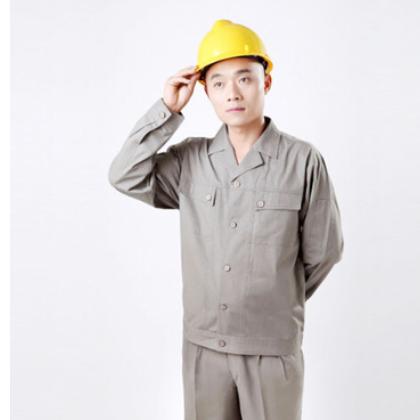 厂家直销40s天丝棉防护工装 夏季清凉工作服 防皱免烫工作服定做