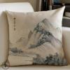 厂家直供办公室汽车家居沙发抱枕套床头腰靠中国风抱枕靠垫定制