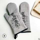 现货批发微波炉手套 烘焙手套隔热加厚烤箱手套 创意居家耐热手套