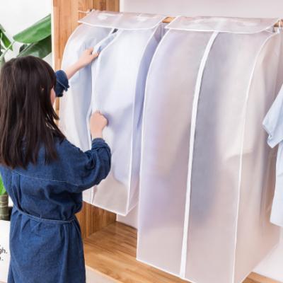 厂家供应PEVA加厚立体防尘罩 衣物整理袋大衣挂袋防尘袋衣服罩