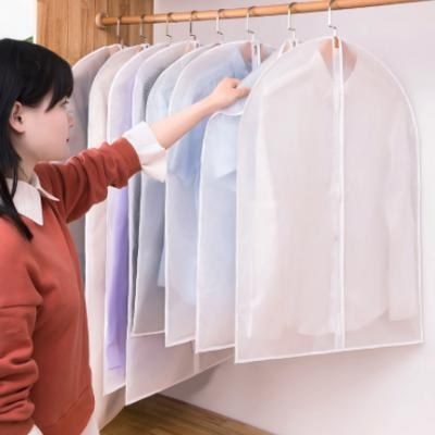 厂家供应透明衣服防尘罩 耐磨可水洗PEVA防尘罩 可挂无异味防尘袋
