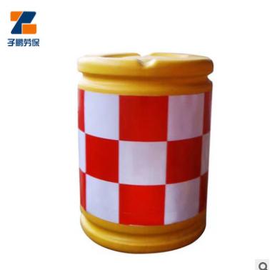 塑料滚塑圆形反光防撞桶 公路围挡警示道路分流桶隔离防撞桶
