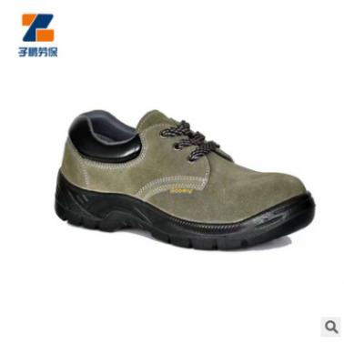 工地建筑防水绝缘低帮劳保鞋 耐高温休闲轮胎底透气磨砂皮劳保鞋