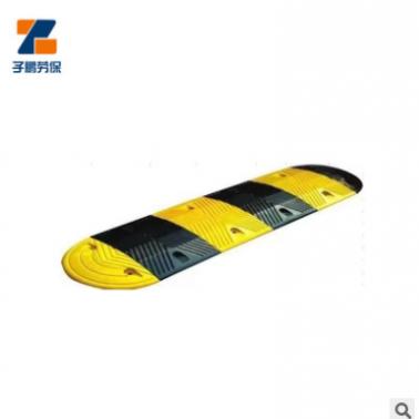 交通安全设施黄黑道路减速带 橡塑材质道路缓冲减速带抗震减速带